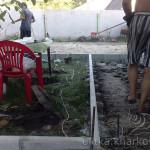 Подготовка к бетонированию двора