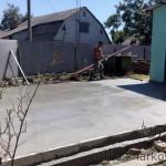 Бетонирование площадки под навес