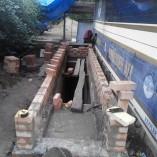 Строительство пристройки над погребом