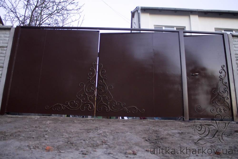 ворота металлические харьков фото