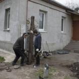 Демонтаж старых ворот