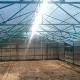 Крыша теплицы усиленна фермами