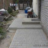 Крыльцо из бетона и плитки
