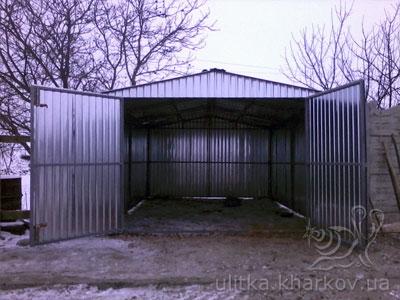 Заказать гараж из металлопрофиля гараж металлический из профиля