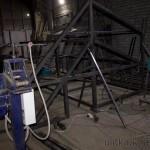 Сварка подвесной площадки для завода
