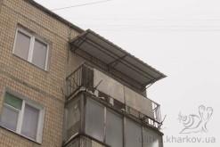 Козырек над балконом в Харькове