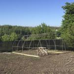 Каркас для усиленной теплицы 5х8 метров для круглогодичного выращивания