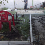 Подготовка к бетонированию площадки под навес