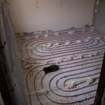 Укладка теплого пола в доме в Песочине