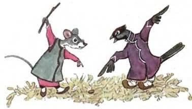 Воробьи лишают мышей еды