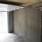 Штукатурка стены гаража