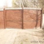 Старые ворота, которые демонтировали