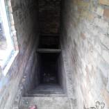 Пристройка над погребом изнутри