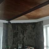 Монтаж деревянного потолка