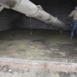 Заливка из бетономиксера