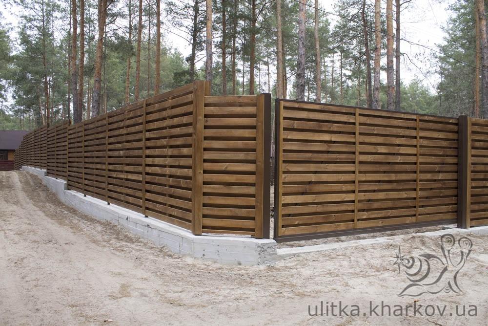 Стоимость монтажа деревянного забора за погонный метр