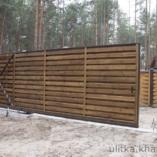 Ворота, неотличимые от заборной стенки