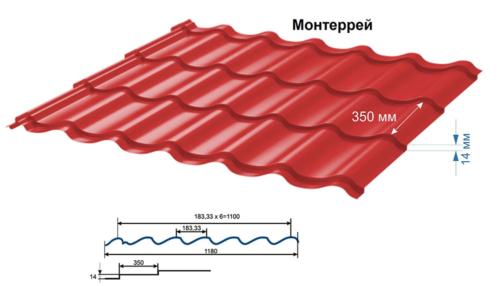 Металлочерепица «Монтеррей»