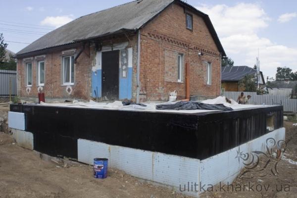 Пристройка нового фундамента к дому