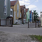 Решетчатые откатные ворота для жилого комплекса