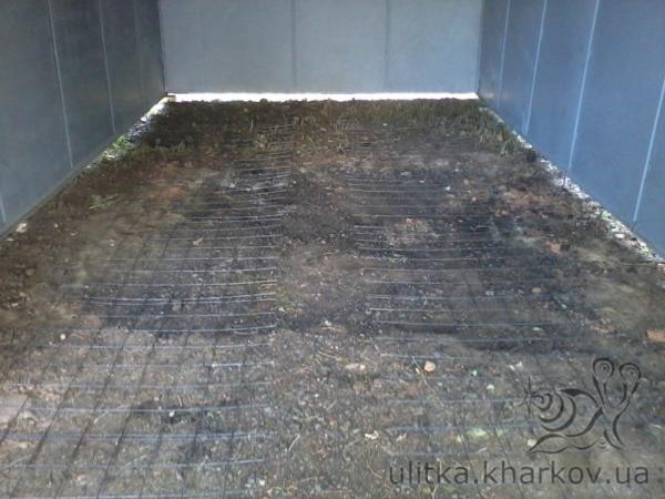 Армирование пола гаража кладочной сеткой