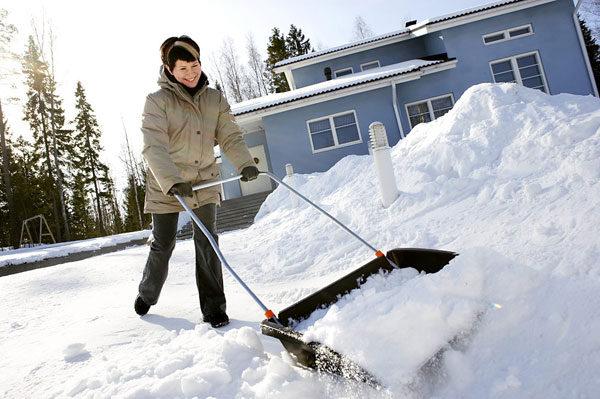 Скрепер для снега