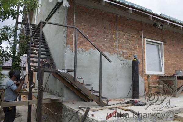 Строительство маршевой лестницы