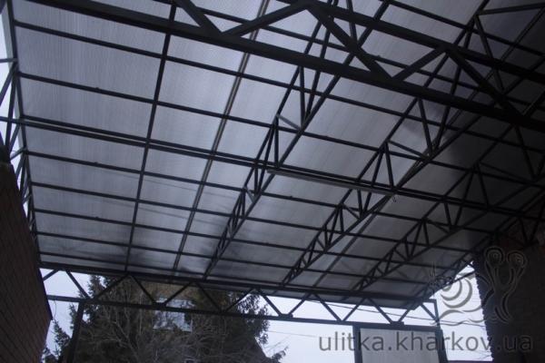 Крыша навеса из поликарбоната