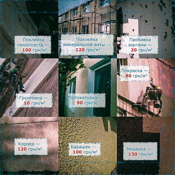 Утепление фасадов — цена