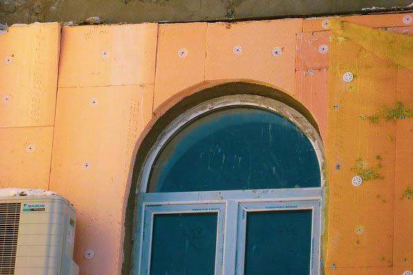 Утеплення фасаду екструдованим пінополістиролом